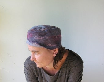 Purple Nuno Felted  Hat