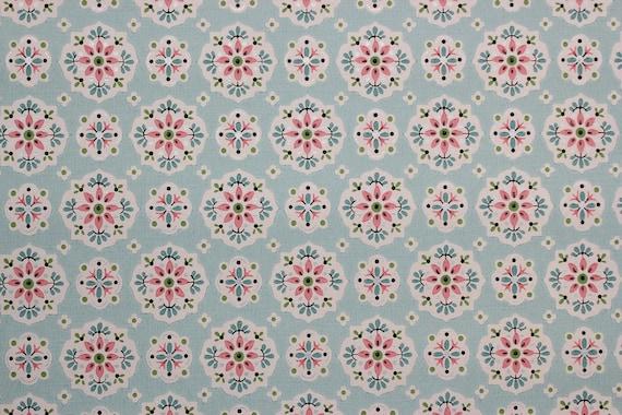 Vintage des ann es 1940 papier peint rose et par rosieswallpaper - Papier peint vintage bleu ...