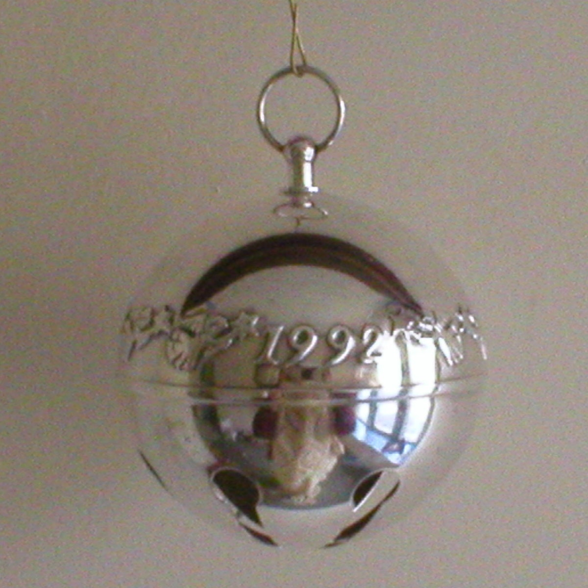 Vintage wallace christmas sleigh bell silver plate