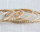 One 14K Gold-Filled Textured Stack Ring (Thick)