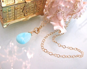 Blue Opal Toggle Necklace