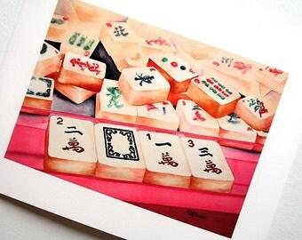 PRINT Mahjong 2013 5x7 inch Giclée Fine Art Print