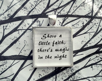 Bruce Springsteen Thunder Road Song Lyric  Pendant