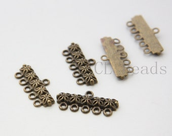 18pcs Antique Brass Tone Base Metal Findings-25x12mm (753Y-J-182)