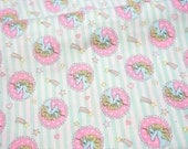 """Unicorn fabric Rainbow and heart 50 cm by 106 cm or 19.6"""" by 41 inch half meter (n321)"""