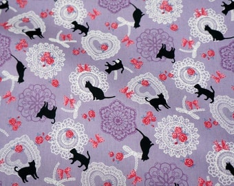 Cat print Japanese Fabric nc51