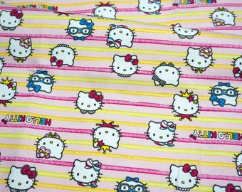 Hello Kitty Fabric Hello kitty and Heart print 50 cm by 106 cm  N132