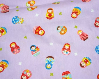 Kawaii  Matryoshka Print Fat quarter (hb4)