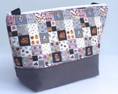 Insulated Lunch Bag Large Eco Friendly Zip Candy Shop Gray Adult Lunch Bag by BonTons