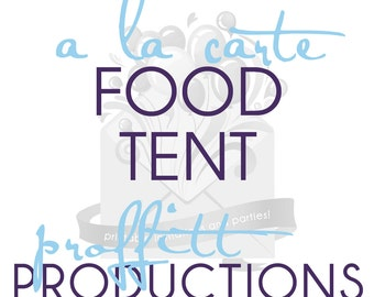 Printable food tent in any theme offered in my store