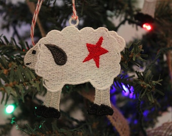 Free Standing Lace Sheep Ornaments