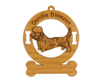 3060 Dandie Dinmont Standing Personalized Dog Ornament - Free Shipping