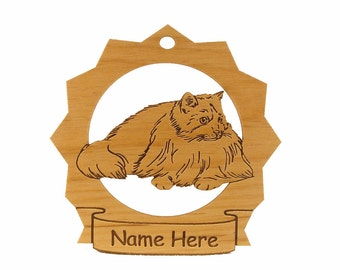 Rag Doll Cat Wood Ornament 087326 Personailzed With Your Cat's Name