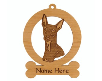 Pharaoh Hound (Head) Ornament 083707 Personalized With Your Dog's Name