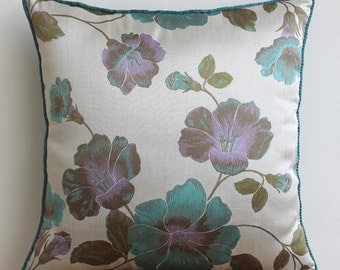 Decorative Pillow Sham Cover Couch Pillow Sham Sofa Bed Shams Toss Pillow 24x24 Foral Teal Pillow Case Bedding Shabby Chic Home Living Decor
