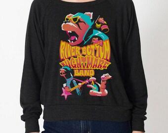 River Bottom Nightmare Band Women's Raglan Long Sleeve Shirt
