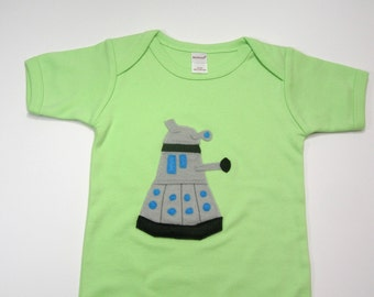 Dalek Dr. Who Onesie in 3 to 6 Months in Sage Green