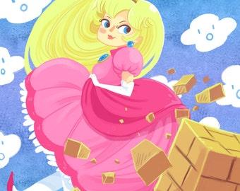 Block Busting Princess 5x7 inch art print
