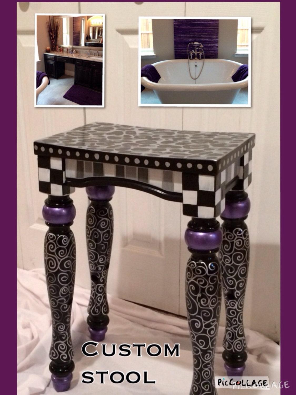 Whimsical Painted Furniture Painted Bar Stool Custom