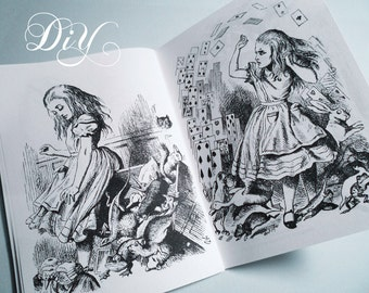 Alice in Wonderland coloring books printable coloring & puzzle book DiY party favors wedding favors PDF file