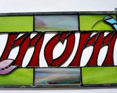 Personalized, Stained Glass, Panel, Suncatcher for MOM