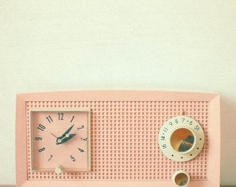 Easy Listening - Still Life Photography, Retro Radio Photograph, Mid Century, Mad Men, Candy Pink, Cream, Gold, Retro Wall Art, Home Decor