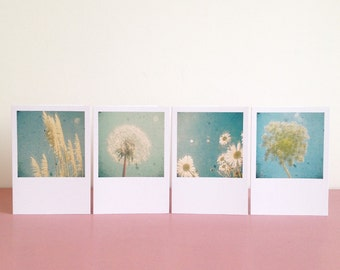 Garden - Blank Greetings Card Set With Pastel Floral Design