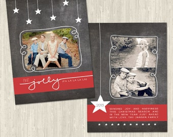 Chalkboard Cheer Holiday Photo Card | Photoshop Templates for Photographers | Instant Download | CS6013-2