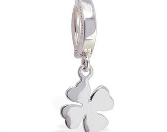 Sterling Silver Celtic Clover Belly Button Ring Exclusively by TummyToys (69071)