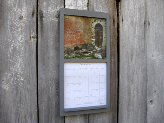 12 x 24 calendar frame calendar holder in wood by sugarshackshoppe. Black Bedroom Furniture Sets. Home Design Ideas