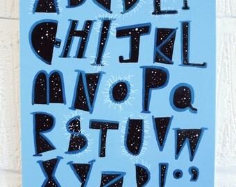 Ad Infinitum Alphabet (archival giclée print)