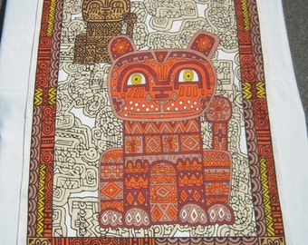 Vintage Towel Super Groovy Mosaic Cat & Kitten