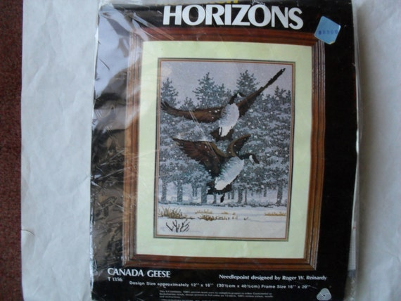 Canadian Geese NeedleWork Embroidery Kit