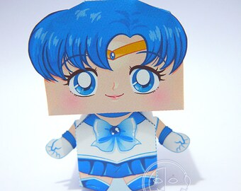 Sailor Mercury Printable Paper Craft PDF