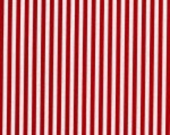 Christmas Fabric Stripe in Red by Michael Miller 1/2 yard