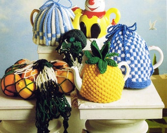 Bazaar Book Knitted and Crocheted Tea Cosies - Digital Knitting  and Crochet Pattern