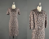 1950s Dress / wiggle dress / 50s Dress / 1950s dress set designer Harwyn