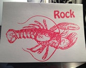 Rock Lobster Greeting Card..  free shipping