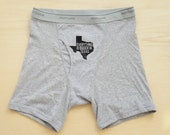 Men's Boxer Briefs - Everything Is Bigger In Texas