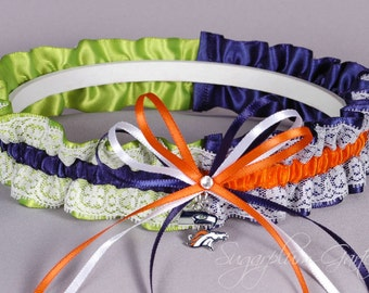 Super Bowl XLVIII Seattle Seahawks vs Denver Broncos Rival Lace Garter