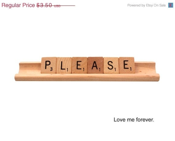SALE Scrabble Please - Love Me Forever Card