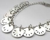 Personalized Sterling Silver Charm Bracelet