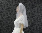 2 Layer Bridal Veil Pencil Edge Veils Blusher Veil 2 Tier Wedding Veil 30 Elbow Length Bridal Veil Ivory Veil White Veil Tulle 2 Layer Veil