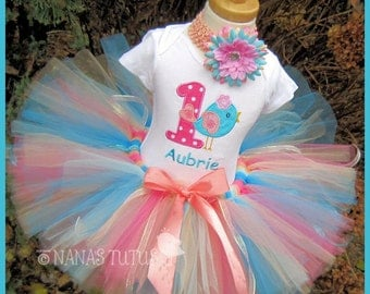 Birthday Tweetie Bird with Number, Party Outfit, Tutu Set, Theme Party, Personalized, Birthday Party Set, Phot Shoot in Sizes 1yr thru 5yrs