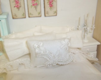 Decorative Bridal Pillow-Dollhouse Miniature size