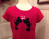VALENTINE Disney Girls T-shirt Mickey and Minnie in love 2 REMAINING