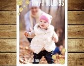 GLITTERY DOTS...Custom Photo Holiday Card...by KM Thomas Designs