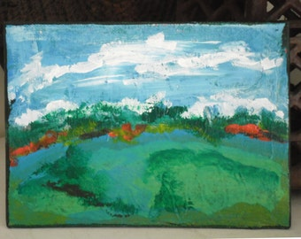 Abstract Landscape Mini Painting