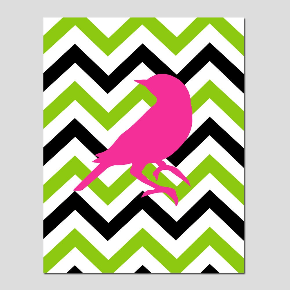 chevron bird nursery art bathroom decor wall art for by tessyla