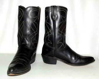 Vintage Rockabilly Western cowboy boots size 9 D or womens size 10.5